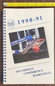 HTF orig Vintage 1990-91 Southwest Conference Basketball Media Press Guide RARE