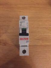Sector Series E MCB 6 Amp Type B 6A Single Pole Breaker GE Vynckier SE06B