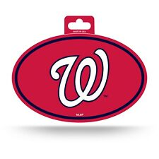 Washington Nationals Oval Decal Sticker Full Color NEW!! 3x5 Inches Free Ship