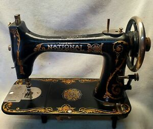 Beautiful National Two (2) Spool Treadle Sewing Machine~Quilter's Dream Machine