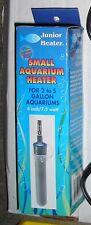 JUNIOR HEATER, Small Aquarium Heater 2 to 5 gallon aquarium 4 inch 7.5 watt NOS