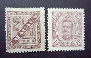 CHINA - MACAO 1893 Y/T  n° 46 et 49 Neuf * - MH