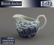"Eine Milchkanne H8cm British Anchor ""Olde Country Castles"" England Hostess  blau"