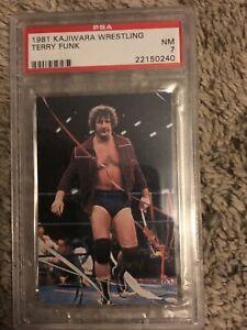 1981 Kajiwara Wrestling Terry Funk NM 7