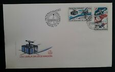 1980 Czechoslovakia Interkosmos Space Programme FDC ties 2 stamps canc Prague