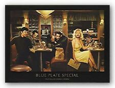 Blue Plate Special by Chris Consani ELVIS MARILYN DEAN 14x11