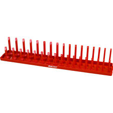 "1/2"" Drive Socket Holder, Holds 34 Sockets Vertical with Size Numbers-Red"