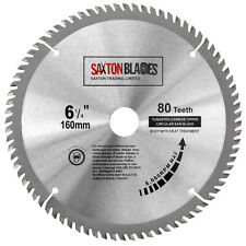 Saxton TCT Circular Wood saw blade 160mm x 20mm x 80T fits Festool Makita Bosch
