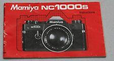 MAMIYA NC1000S Original Camera Guide Manual Instruction Photography Book