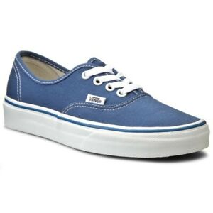 VANS AUTHENTIC NAVY SKATE SHOES SIZE 12