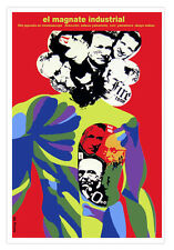 Cuban movie Poster for Japanese film INDUSTRIAL Magnate.Corporate Wall Decor Art