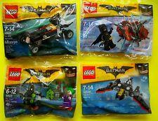 4 x Lego Batman 30521 30522 30523 30524 Batmobil Joker Batman Batwing Polybag