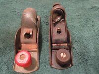 Lot of 2 Vintage Wood Planes Metal Unmarked 7 Inch