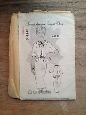 1950'S SPADEA SEWING PATTERN N-1143 MISS MARTINI BOW FRONT DRESS SIZE 12 FF