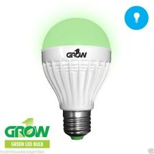 Grow 1 Green 9 Watt LED Light Bulb Plant Safe Work on Plant in Sleep Cycle 110v