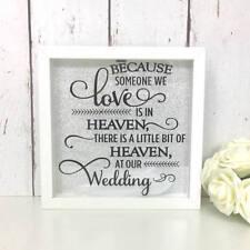 Perché qualcuno che amiamo è nei cieli | al nostro matrimonio | Memorial TELAIO | Piuma