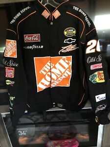 Tony Stewart 20 Home Depot Twill Chase Authentic  Sizes Small Jacket New With Tg