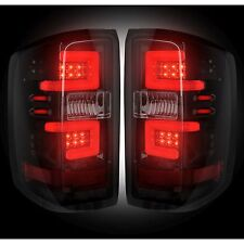 RECON 264297BK Chevy Silverado 16-17 1500 2500 3500 Smoked Tail Lights LED