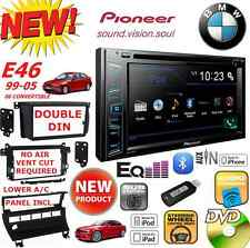 BMW E46 PIONEER CD DVD AUX USB BT BLUETOOTH Car Stereo Radio Double Din Dash Kit