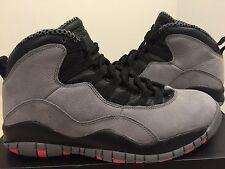 "Nike Air Jordan Retro 10 X Size 9 ""Infrared"" Cool-Grey/Black NIB DS Sneakers"