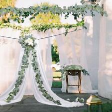 Silver Dollar Eucalyptus Garland Faux Silk Leaf Vine Greenery Wedding Artificial