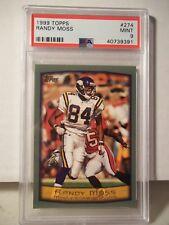 1999 Topps Randy Moss PSA Mint 9 Football Card #274 NFL HOF