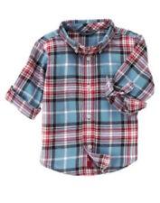 Gymboree Pirate Adventure Blue Plaid Flannel Shirt Boys 4T NEW NWT