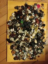 Vintage Sewing Buttons, Mixed Lot over 4 lbs
