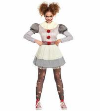 Ladies Creepy IT Pennywise Clown Costume Womens Halloween Clown Fancy Dress