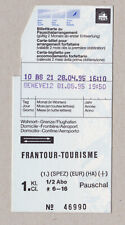 SWITZERLAND SBB FRANTOUR TOURISME / TICKET TO AND FROM AIRPORT (468)