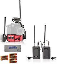 Saramonic 2 SR-WM4C Wireless Dual Lav System, SRPAX2 Mixer, Cloth, 6AA Batteries