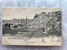 Stone Quarry, East Conshohocken, Pa. Vintage 1908 Postcard