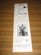1946 Print Ad Helga-Devil Fishing Lures Etchen Tackle Co Detroit,MI