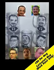 Custom Caricature Photo Wedding Favor Gift Beer Mug Personalized Art Commission
