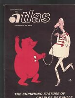 Atlas Magazine September 1967 Charles De Gaulle China Nuclear Weapon