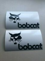 Bobcat Face Logo SET OF 2 Skid Steer Multi-Color Vinyl Decal Sticker