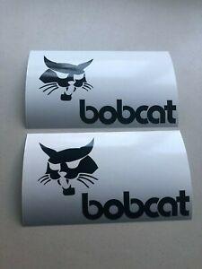 Bobcat Face Logo SET OF 2 Skid Steer Multi-Color Vinyl Decal Sticker