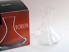 Bohemia Forum Clear Glass Wine Decanter Carafe Crystalex Czech Republic IOB Box