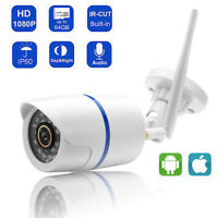 1080P Wireless Wifi IP65 Camera Audio Home Security CCTV Bullet IR Camera