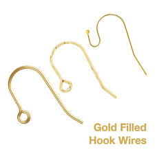 14ct Yellow Gold Filled Hook Wires - Jewellery Making Findings