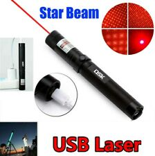 Usb Rechargeable 2in1 Red Laser Pointer Pen 500Miles 650nm Star Beam Light Lazer