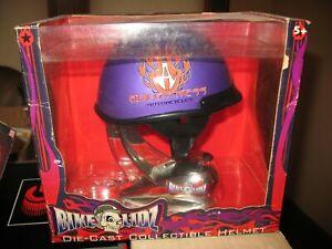 2001 Bike Lidz Die Cast Helmet ~Arlen Ness Motorcycles Purple Orange Flame
