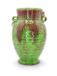Nice Art Deco Crown Devon Green Vase