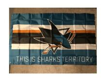 """San Jose Sharks Banner """"This Is Sharks Territory"""""""