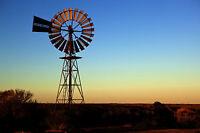 "Australian  outback windmill  australia landscape art print  photo 36"" x 24"""