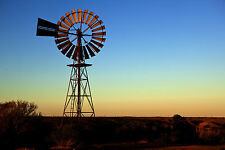 A1 Size canvas outback windmill  Australia landscape art print  photograph bush