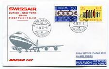 FFC 1971 Swissair First Flight Boeing 747 SR 110 Zurich New York Liechtestein