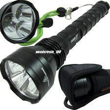 4000 Lumens XML CREE XM-L 3x T6 LED Flashlight Torch + Hoster