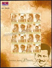 1999 Malaysia Artist Supreme P. Ramlee 16v Stamps Imperf Sheetlet Mint NH (RARE)