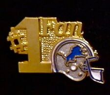 Detroit Lions Pin ~ #1 Fan ~ NFL ~ 80's vintage ~ Football